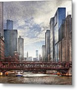 City - Chicago Il - Looking Toward The Future Metal Print