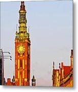 City Hall In Gdansk Metal Print