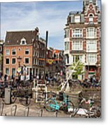 City Of Amsterdam In Netherlands Metal Print