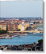 City Of Budapest At Sunset Metal Print