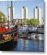 City Of Rotterdam Cityscape In Netherlands Metal Print