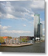 City Of Rotterdam In Netherlands Metal Print