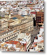 City Of Seville Cityscape In Spain Metal Print