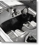 Classic Boat In Black And White Metal Print