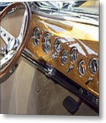 Classic Car Interior Metal Print