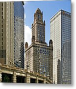 Classic Chicago -  The Jewelers Building Metal Print