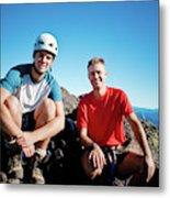 Climbing Foley Peak Metal Print