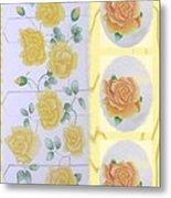 Climbing Yellow Roses Metal Print