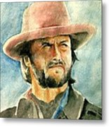 Clint Eastwood Metal Print by Nitesh Kumar