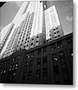 Close In Shot Of The Empire State Building New York City Metal Print