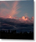 Sunlight On The Cloud Tops Metal Print