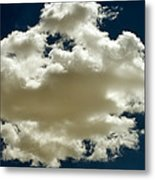 Cloud On Dark Sky. Metal Print