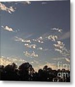 Clouds At Sunset Metal Print