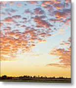 Clouds Over Landscape At Sunset Metal Print