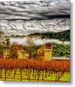 Clouds Over Napa Valley Metal Print