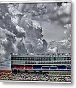 Clouds Over Stadium Metal Print