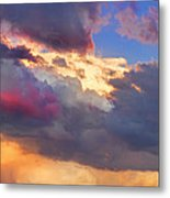 Cloudscape Sunset Touch Of Blue Metal Print