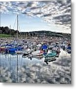 Cloudy Morning - Lyme Regis Harbour Metal Print