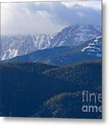 Cloudy Peak Metal Print