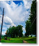 Cloudy Trail Metal Print