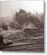 Coal Dust Explosion Experiment Metal Print
