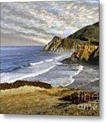 Coastal Beauty Impasto Metal Print