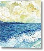 Coastal Clouds Metal Print