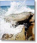 Coastal Collision Metal Print
