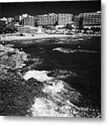 Coastal Path Past Salou Waterfront Properties On The Costa Dorada Catalonia Spain Metal Print