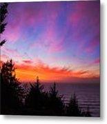 Coastal Skies Metal Print