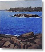 Coastal Waters Of Maine - Art By Bill Tomsa Metal Print