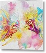 Cock Fighting Metal Print by Catf