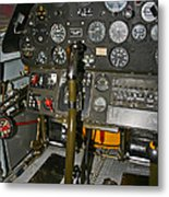 Cockpit Of A P-40e Warhawk Metal Print