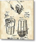 Cocktail Mixer And Strainer Patent 1902 - Vintage Metal Print
