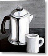 Coffee's On Metal Print