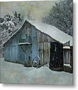 Cold Day On The Farm Metal Print