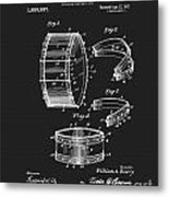 Collapsible Drum Patent 008 Metal Print