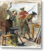 Colonial Blacksmith, 1776 Metal Print