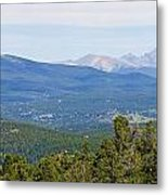 Colorado Continental Divide 5 Part Panorama 5 Metal Print