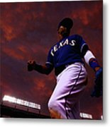 Colorado Rockies V Texas Rangers Metal Print