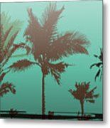 Colorful Background With Silhouette Of Metal Print