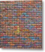 Colorful Brick Wall Texture Metal Print