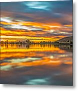 Colorful Clouds At Sunrise Metal Print