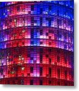 Colorful Elevation Of Modern Building Metal Print
