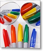 Colorful Markers Metal Print