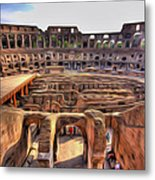 Colosseum In Rome Metal Print