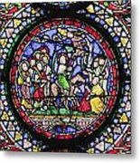Colourful Stained Glass Window In Metal Print by Terence Waeland