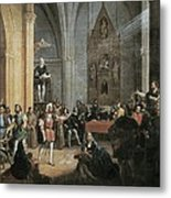 Columbus, Christopher 1451-1506. Sailor Metal Print by Everett