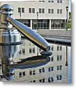 Columbus Ohio Justice Center Metal Print by Frozen in Time Fine Art Photography