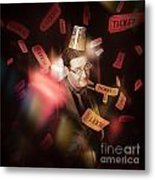 Comedy Entertainment Man On Theater Stage Metal Print